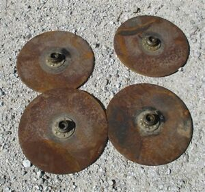 4 Plow Disc Blades Industrial Age Steampunk Tractor Wheel Planter John Deere A12