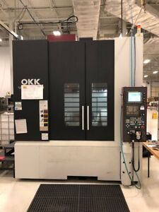 Used Okk Vp600 5ax Cnc Vertical Mill 2010 5 axis Fanuc 310i 12000 Rpm Tsc Probes