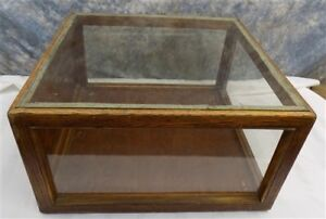 Wooden Framed Glass Vintage Showcase Country General Store Counter Top Display I