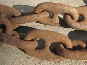 8 Ft Navy Ship S Anchor Chain Huge Links Heavy Iron Mare Island Ca Salvage