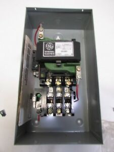 Ge Motor Starter Size 2 With Enclosure Control 200 Line Coil 230 Volts New