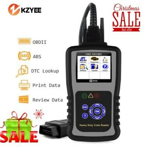 Auto Obd2 Scanner Code Reader Scan O2 Sensor Test Abs Reset For Heavy Duty Truck