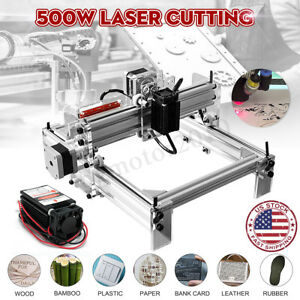 500mw Diy Mini Laser Engraving Cutting Machine Adjustable Desktop Printer Kit Us