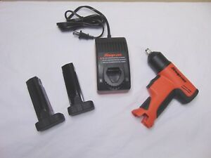 New Orange Snap On Tools 3 8 Cordless Impact Wrench Charger 2 Batterys Free Ship