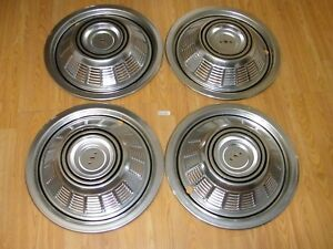 4 Nos Rv Motor Home Hub Caps Wheel Covers Fleetwood Southwind Winnebago Del met