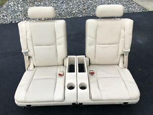 2007 2014 Perforated Escalade Row 3rd Seat Cashmere Leather Tahoe Suburban Yukon