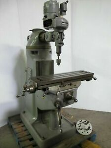 Bridgeport Vertical Mill Milling Machine Table 9 X 32