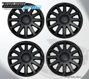 Matte Black 15 Inches 610 Pop On Hubcap Wheel Rim Skin Covers 15 Inch 4pcs