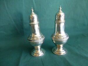 Gorham Buckingham 1178 Pattern Sterling Silver Salt And Pepper Shakers
