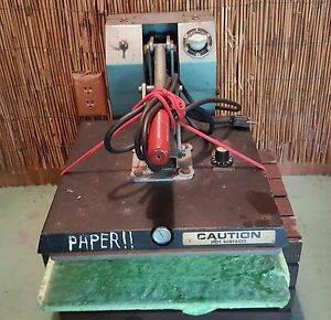 Vintage 13 Open Clam Nix Heat Transfer Press Machine Mini 100 Works Great Lycra