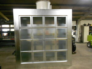 12ft Wide Powder Coating Spray Paint Booth Exhaust Wall three Phase