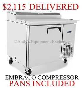 Pizza Sandwich Prep Table 44 3ft 3 Inch 1 Door Cooler With Cutting Board