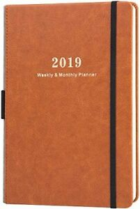 Daily Planner 2019 Weekly Monthly Calendar Classic Happy Student Teacher Agenda