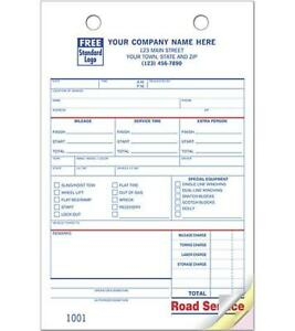 Large Format Towing Road Service Register Forms Nebs Deluxe 613