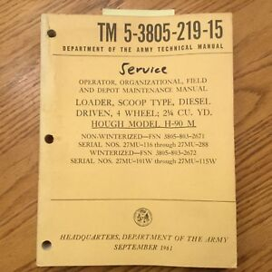Hough International H 90m Pay Loader Service Shop Repair Manual Wheel Shovel