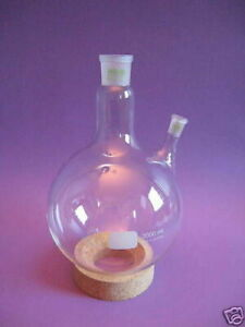 Round Bottom Round bottomed Flask Middle Neck Ns 29 32 Side 14 23 W 0703xxx