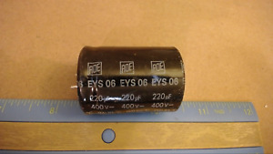 Roe Eys06 220uf 400v 85c W scratches Capacitor New Lot Quantity 4