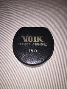 Made In The Usa Mentor Volk Ii 15d Double Aspheric Ophthalmic Lens With Case