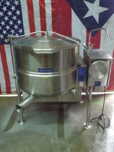 Cleveland Tilting Kgl 40t Natural Gas Jacketed Tilt Steam Kettle