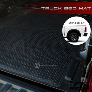 For 2002 2018 Ram Rambox 5 7 Ft Black Rubber Diamond Truck Bed Floor Mat Liner