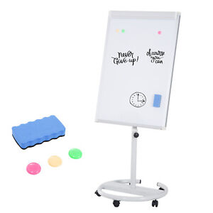 79 Office Flipchart Magnetic Writing Whiteboard Dry Erase Board Rolling Wheels