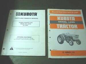 Kubota L285 Tractor Illustrated Parts List Manual Book Catalog