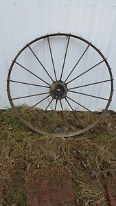 45 Steel Rim Spoke Wagon Cart Implement Wheel Farm Tractor Local Pickup