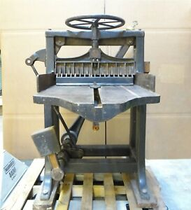 Large Antique Chandler Price Co S4018 Hand Operated Paper Guillotine Cutter