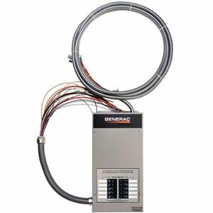 Generac 50 amp Indoor Automatic Transfer Switch W 10 circuit Load Center