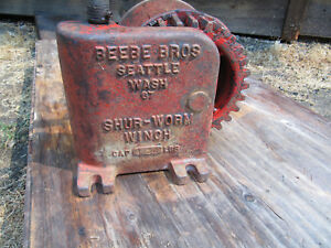 Beebe Brothers Shur Worm Winch 1250 Lbs Vintage