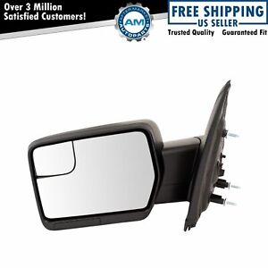 Mirror Manual Textured Black Driver Side Left Lh For Ford F150 Pickup Truck New
