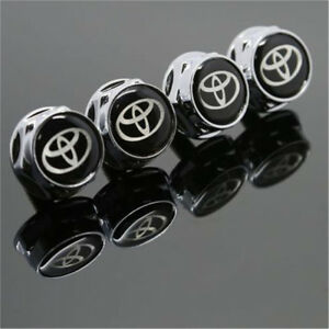 For Toyota Car License Plate Frame Screw Bolt Cap Cover Screw Bolts Nuts 4pcs