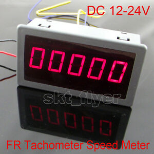0 56 Digital Red Led Frequency And Tachometer Rotate Speed Meter Dc 12 24v