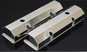 Sbc Fabricated Tall Aluminum Valve Covers W Accessory Holes 6145 Pol