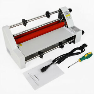 V350 13 350mm Hot Cold Roll Laminator Digital Single double sided Film Heating