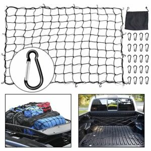 5 x7 Cargo Net Black Truck Bed Bungee Nets Stretches To 10 x14 For Truck Suv