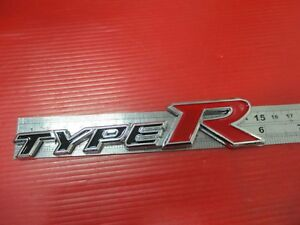 With For Honda Civic Accord Type R Black Red Racing Logo Badge Emblem Si451