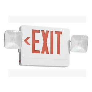Utilitech 10 1 4 Led Exit Emergency Combo Sign 7223