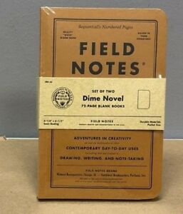 Field Notes dime Novel Blank Books Limited Edition Sealed 2 pack Notebook
