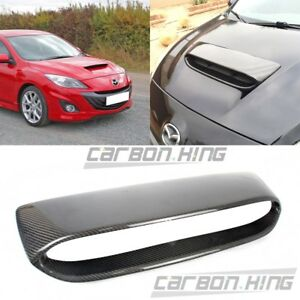 Carbon Mazda 3 2nd 4dr 5dr Mps Mazdaspeed Front Hood Scoop Vent 10 13