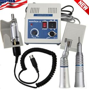 Dental Lab Marathon Micro Motor 35k Rpm N3 Contra Angle Straight Handpiece Ce