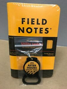 Field Notes utility Ledger Limited Edition Sealed 3 pack Notebooks Keychain
