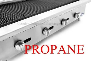 4 Foot Wide 48 Inch Counter Top Char Rock Broiler Grill 140 000 Btu s Propane Lp