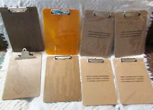 3 Vintage Clipboards 4 New 1 Plastic Estate Find