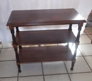 Mahogany 3 Tier End Table Side Table T770