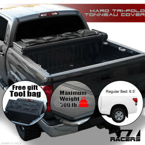 Tri Fold Hard Tonneau Cover Tool Bag Tfh For 2014 2019 Toyota Tundra 6 5 Ft Bed