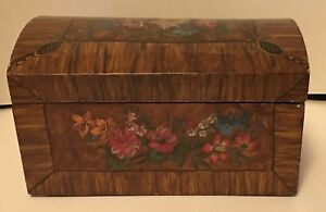 Vintage Dresser Box Decopage Or Decopaged Collar Not Celluloid