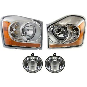 Headlight Kit For 2004 2005 Dodge Durango Left And Right 4pc