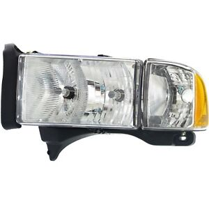 Headlight Headlamp W Corner Light Driver Side Left Lh For Dodge Ram Sport