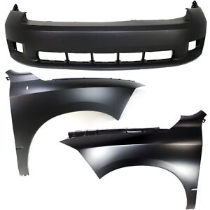 Bumper Cover Kit For 2011 2012 Ram 1500 Front With Fender 3pc